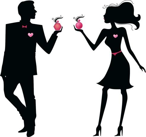 man and woman hearts